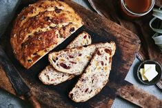 No-Knead Harvest Bread | King Arthur Flour: This dense, chewy artisan bread features cranberries, raisins, and walnuts.