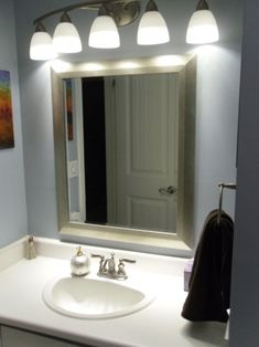 107 best bathroom lighting over mirror images on pinterest bathroom mirrors and light fixtures aloadofball Choice Image
