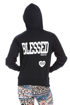 Blessed Zip Hoodie inspired by Psalm 5:12