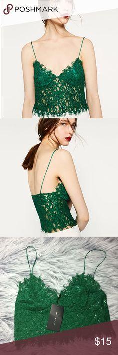 NWT Zara Lace Bralete NWT Zara Lace Bralete Top OBO Zara Tops