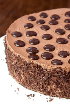 Passover Chocolate Mousse Meringue Layer Cake - use chocolate pudding instead of the mousse