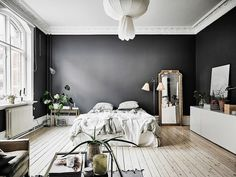 46 Best Dark Gray Bedroom images | Bedroom, Gray bedroom ...