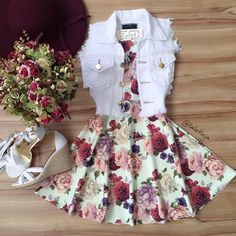 Image shared by Find images and videos about fashion, outfits and ​vestidos on We Heart It - the app to get lost in what you love. Cute Summer Outfits, Cute Casual Outfits, Pretty Outfits, Pretty Dresses, Stylish Outfits, Beautiful Dresses, Casual Dresses, Summer Dresses, Outfit Summer
