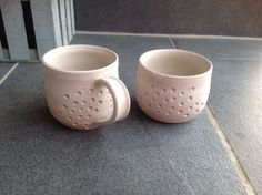 Greenware cups Cups, Pottery, Tableware, Ceramica, Mugs, Dinnerware, Pottery Marks, Dishes, Place Settings