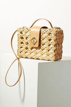 Aranaz Woven Charlie Crossbody Bag #anthropologie #ad #wovenbag