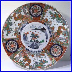 "Antique Japanese Meiji Period Imari Porcelain Charger 18.0"" - eBay Seller ID:  Phantom*SF"
