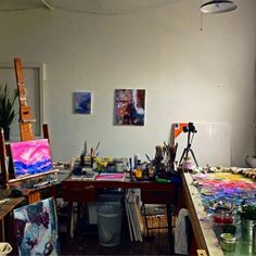 Jessica Chickering is preparing her space at Pearl Street Studios to welcome Somerville Open Studios visitors.   http://somervilleopenstudios.tumblr.com/