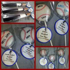 Cake. Oreos. Pretzels. Little league baseball. Silent auction basket goodies. 2013
