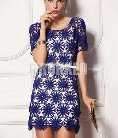 Summer Crochet Dress/Crochet Fashion dress,Spring ,Summer , Women Clothes /  No.CB-48