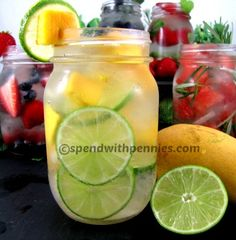 Naturally Flavored Water: Amazing Healthy Thirst Quenchers! - Spend With Pennies