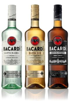 "The Bacardi rebrand features a redrawn bat icon and new wordmark. The new art work is rolling out across packaging and new ""Art Deco-style"" bottles for the first time in February Bacardi Drinks, Bacardi Rum, Alcoholic Drinks, Rum Rum, Tequila, Whisky, Martini, Caribbean Rum, Beverage Packaging"
