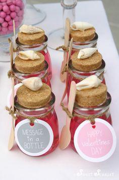 Jello in jars at a Valentine's Party #valentines #jello