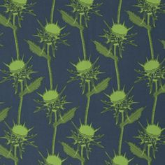 This trend of biologically accurate stylised plants is great. Designer: Anna Maria Horner Collection: Pretty Potent Print Name: Mary Thistle in Seaweed Manufacturer: Westminster / Free Spirit (PWAH073.SEAWE)