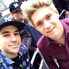 Niall outside BBC in London, greeting fans - 11/13/15