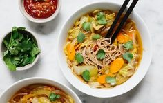 Shoyu Cabbage Soup - Bon Appétit.  A healthier ramen!