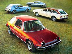 AMC Pacer and Gremlin: my Dad owned both of these growing up...a rolling greenhouse
