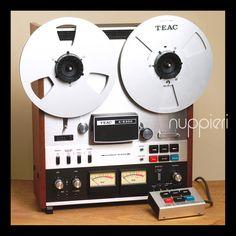 Teac vintage reel to reel recorder. Audio Room, Tape Recorder, Hifi Audio, Home Studio, Audio Equipment, Audiophile, Home Theater, Electronic Music, Decks