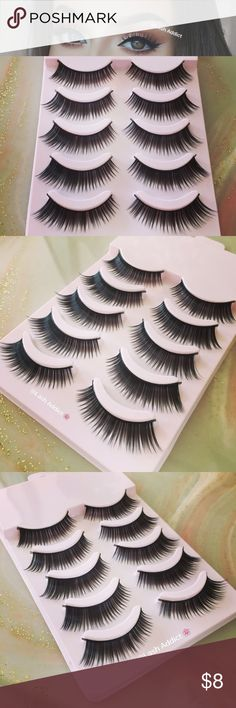 5 PAIRS EYELASHES HOUSE OF LASHES KOKO MAKE UP NEW Similar to House of Lashes Tigress Full Lashes ❤️ PRICE IS FIRM  ❤️ OFFERS WILL BE IGNORED  • 5 Pair Of Lashes • Synthetic Fibers • New In Pink Box • No Glue • Will Last Up To 5-7 Applications, With Good Care  Orders placed after 3PM (EST) time will be shipped out the next day! Exception on Sundays  Check my other listings for eyelash glue, and 3d mink lashes! Sephora Makeup False Eyelashes