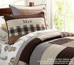 Cozy Patch Quilted Bedding on potterybarnkids.com