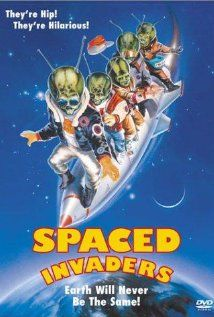 """Spaced Invaders (1990) rated PG, The invasion happens on Halloween when a local radio station is rebroadcasting Orson Welles'  """"War of the Worlds""""."""