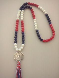 Colar Comprido estilo Navy C/ Medalha Menina