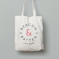 Had fun with a free Photoshop file and made this mock up of a Beacon & Batten tote bag. Now I want the real deal! Free Photoshop, Batten, Reusable Tote Bags, Branding, Fun, Brand Identity, Branding Design, Brand Management, Funny