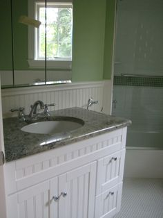 Bathrooms With Beadboard And Vanity   Google Search