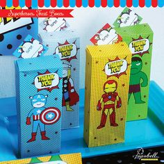 Avengers Treat Box / Favor Box for Superhero birthday by Popobell