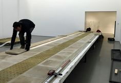 Building the platfrom. Katrina Palmer's Necropolitan Line at the Henry Moore Institute, Leeds. #installations