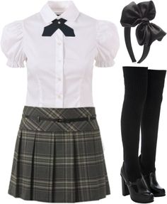 """""""Archer School for Girls Uniform - 03"""" by cassidyklein ❤ liked on Polyvore"""