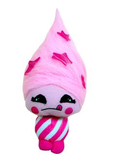 Bubblegum Cotton Candy Cutesie by Playdin!  A sweetie that smells of very, very pink bubblegum - there's even wads of it stuck in her hair!