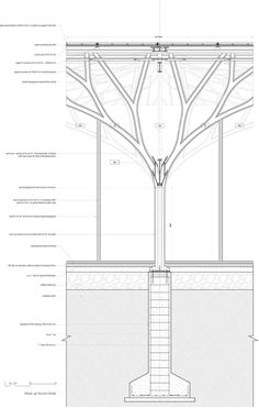 Arched Roof Truss Design – Porch and Roof Architecture Concept Drawings, Canopy Architecture, Green Architecture, Architecture Details, Roof Truss Design, Tree Structure, Pavillion, Airport Design, Haus Am See