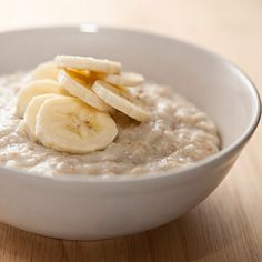 Peanut Butter Oatmeal with Bananas #recipe