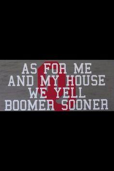Boomer Sooner! @Ruth Ebel Grimsley