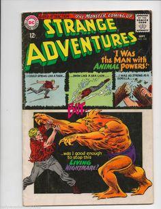 STRANGE ADVENTURES #180 1ST APPEARANCE ANIMAL MAN DC Comics Infantino 1965 VG