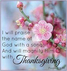 Psalm 69:30 KJV