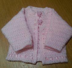 Newborn baby girls crochet cardigan
