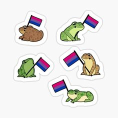 Laptop Stickers, Cute Stickers, Lgbtq Flags, Bisexual Pride, Tumblr Stickers, Cute Frogs, Aesthetic Stickers, Transparent Stickers, Sticker Design