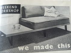 DIY Mod couch-table from a door and mattress [idea for reusing a crib mattress?].