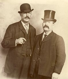 CIGAR Smoking Men in TOP HAT and Bowler Hat with Large Moustaches Photo Postcard Minneapolis Minnesota Circa 1905 Ashley.and Lex redo! Mens Style Guide, Men Style Tips, Woolen Scarves, Art Of Manliness, Good Cigars, Bowler Hat, Cigar Smoking, Derby Hats, Photo Postcards