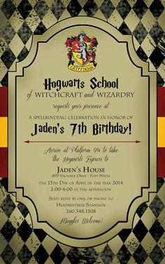 Free downloads to create your own harry potter party invitations or wish i could have a party luke that stopboris Image collections