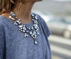 Gorgeous necklace on a simple outfit! https://www.facebook.com/pages/Chris-Alix-Custom-Jewelry/187194701308962