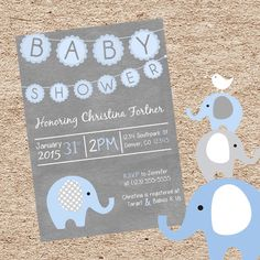 Shop for on Etsy, the place to express your creativity through the buying and selling of handmade and vintage goods. Target Baby, Elephant Theme, Baby Shower Invitations For Boys, Babies R Us, Second Baby, Baby Boy Shower, Rsvp, Kids Rugs, Shower Ideas