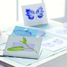 Hand-Printing from Nature: Personalized Stationery and Note Cards - DIY - MOTHER EARTH NEWS