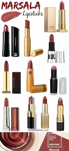 Ready to work some Marsala into your beauty routine? Get a jump start on the trend with these gorgeous Marsala-hued lipsticks, from rosy-browns to deep wine shades you'll love!