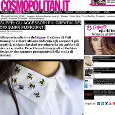 Magazine // Cosmopolitan.it #cosmopolitan #magazine #paper #web #fashion #fashionworld #milano #bees #shirt #crop