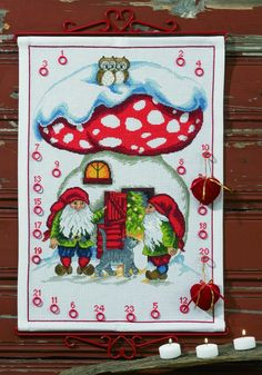 cross stitch christmas calender   jul x-mas