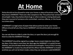 Know your rights (7) At Home
