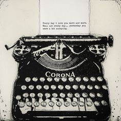 Fiona Watson. Just little words. Etching (with chine colle).
