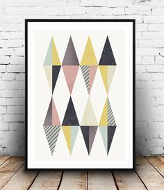 Geometric art Wall print Geometric print Nordic by Wallzilla